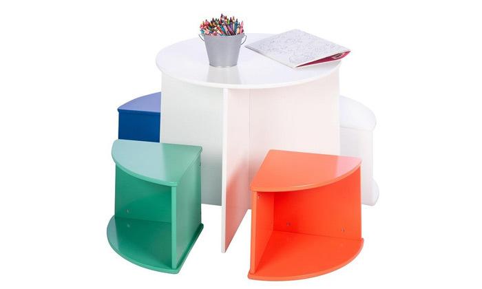 5 סט שולחן ו-4 כיסאות לילדים honey can do