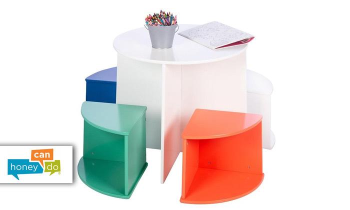 2 סט שולחן ו-4 כיסאות לילדים honey can do