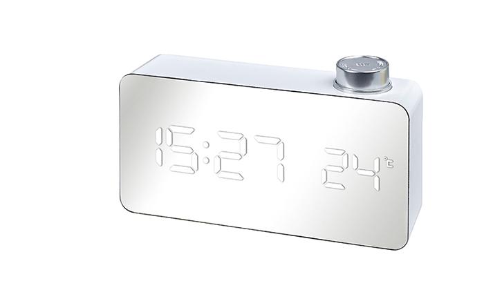 2 שעון שולחני דיגיטלי בגימור מראה SAHARA TECH - משלוח חינם