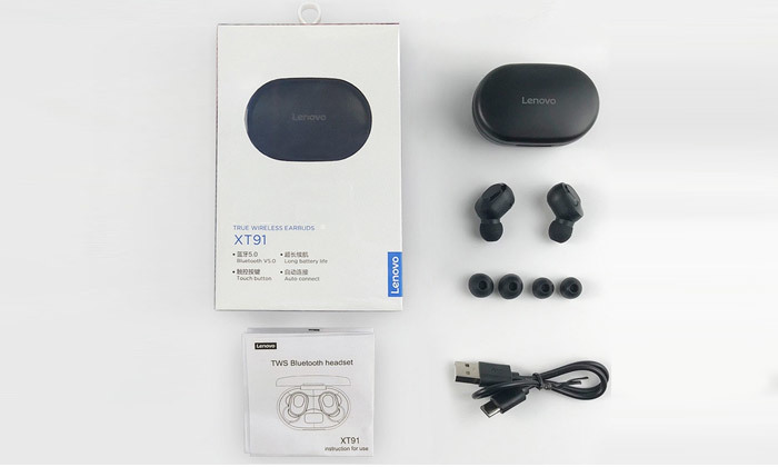 4 אוזניות אלחוטיות Lenovo TWS במבחר צבעים