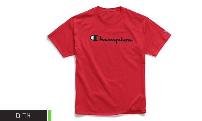 5 זוג חולצות טי שירט 100% כותנה CHAMPION במבחר דגמים וצבעים