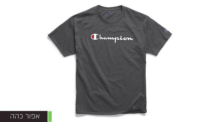 6 זוג חולצות טי שירט 100% כותנה CHAMPION במבחר דגמים וצבעים
