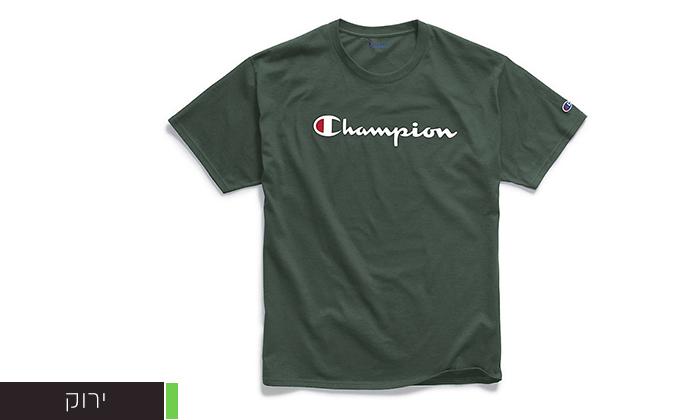 7 זוג חולצות טי שירט 100% כותנה CHAMPION במבחר דגמים וצבעים