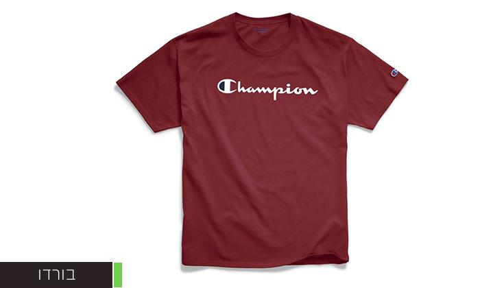 8 זוג חולצות טי שירט 100% כותנה CHAMPION במבחר דגמים וצבעים
