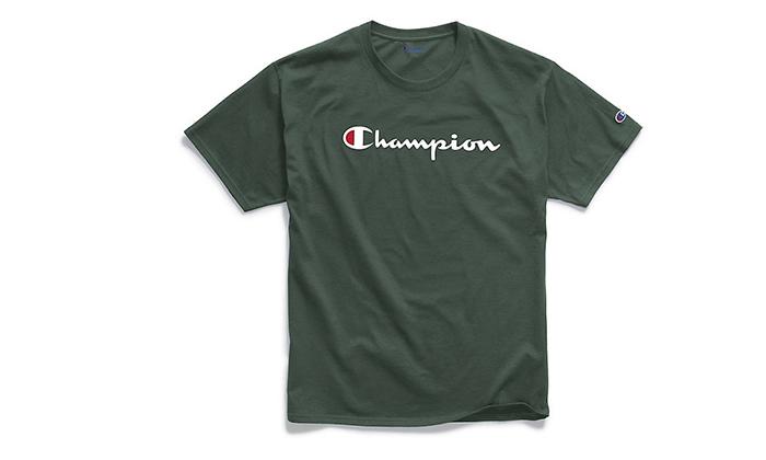 11 זוג חולצות טי שירט 100% כותנה CHAMPION במבחר דגמים וצבעים