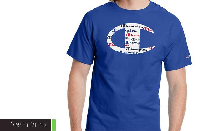 10 זוג חולצות טי שירט 100% כותנה CHAMPION במבחר דגמים וצבעים