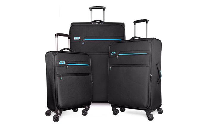 3 סט 3 מזוודות MarcoPolo, דגם DISCOVERY במבחר צבעים