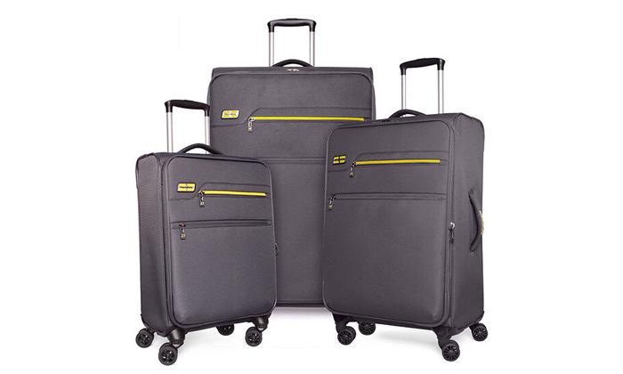 4 סט 3 מזוודות MarcoPolo, דגם DISCOVERY במבחר צבעים