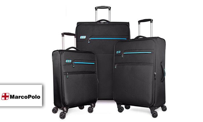 2 סט 3 מזוודות MarcoPolo, דגם DISCOVERY במבחר צבעים