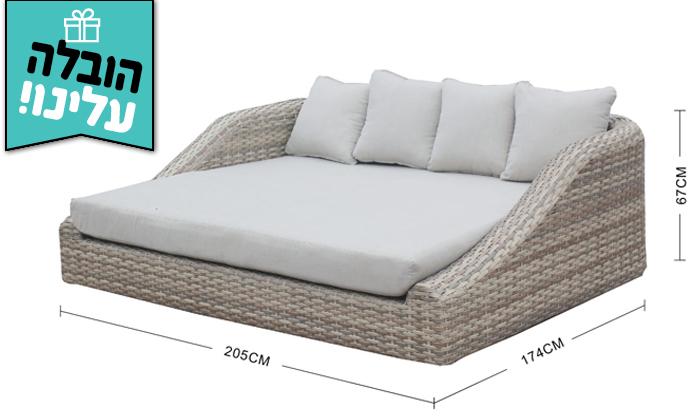 3 מיטת רביצה Sunrise דגם סנטוריני