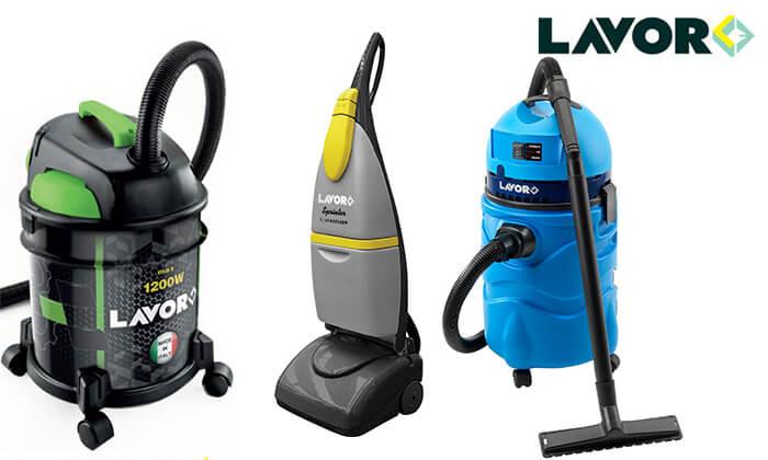 2 שואב אבק ומים ומכונת שטיפה מבית LAVOR