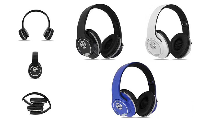 2 אוזניות קשת אלחוטיות שהופכות לרמקולים, בשלושה צבעים לבחירה