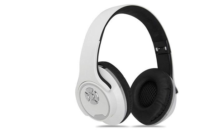 3 אוזניות קשת אלחוטיות שהופכות לרמקולים, בשלושה צבעים לבחירה