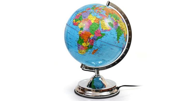2 גלובוס עם מפת עולם במגוון גדלים לבחירה