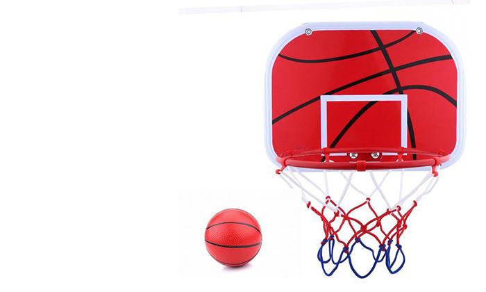 2 לוח כדורסל ביתי לתלייה על דלת או קיר, כולל כדור