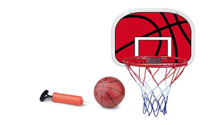 3 לוח כדורסל ביתי לתלייה על דלת או קיר, כולל כדור