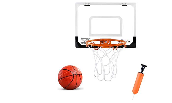 2 לוח כדורסל לתלייה על הדלת כולל כדור