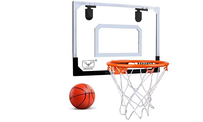 4 לוח כדורסל לתלייה על הדלת כולל כדור