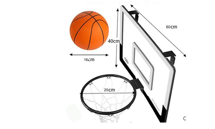 3 לוח כדורסל לתלייה על הדלת כולל כדור