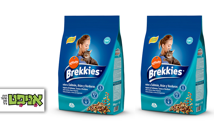 """2 2 שקי מזון לחתולים Brekkies במשקל 4 ק""""ג - משלוח חינם"""