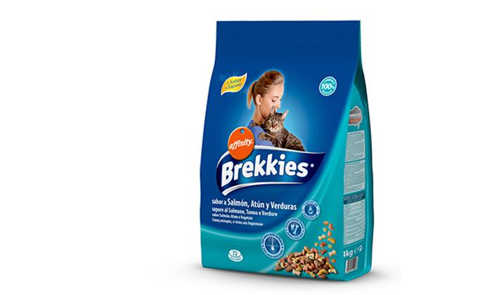 """3 2 שקי מזון לחתולים Brekkies במשקל 4 ק""""ג - משלוח חינם"""