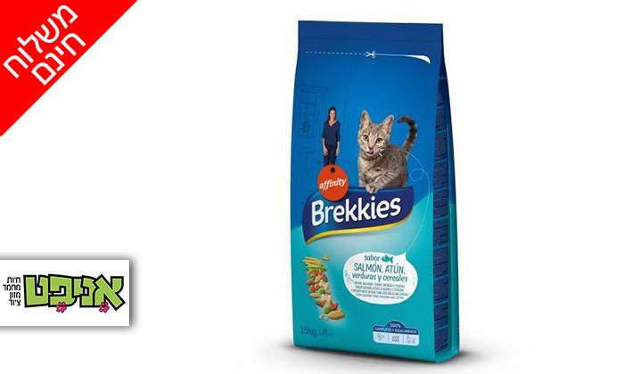 """2 שק 15 ק""""ג מזון חתולים Brekkies על בסיס סלמון - משלוח חינם"""