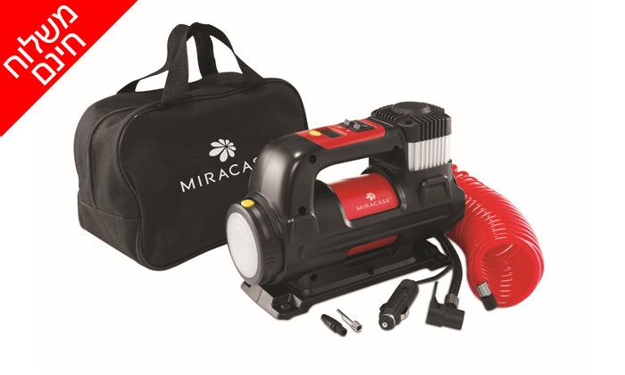 2 ערכת חירום לרכב: מדחס אוויר וסוללת התנעה MIRACASE - משלוח חינם