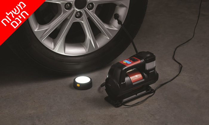 3 ערכת חירום לרכב: מדחס אוויר וסוללת התנעה MIRACASE - משלוח חינם