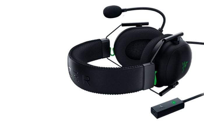 4 אוזניות גיימינגחוטיות RAZER דגםBlackShark V2 USB