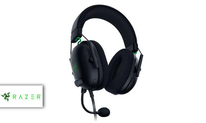2 אוזניות גיימינגחוטיות RAZER דגםBlackShark V2 USB