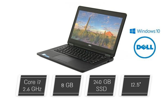 """2 מחשב נייד מחודש DELL דגםE7270 עם מסך """"12.5, זיכרון 8GB ומעבד i7"""