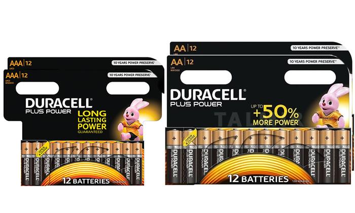 2 מארז 48 סוללות דורסל AA / AAA לבחירה