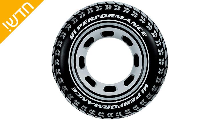 4 2 גלגליים מתנפחים INTEX בצורת צמיג