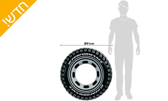 3 2 גלגליים מתנפחים INTEX בצורת צמיג