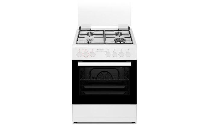 """2 תנור משולב כיריים גז 60 ס""""מ Peerless פירלס בצבע לבן"""