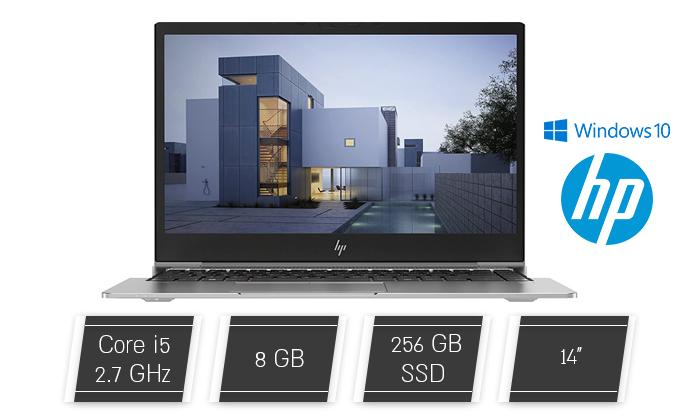 """2 מחשב נייד מחודש HP דגם ZBook 14u G5 עם מסך """"14, זיכרון 8GB ומעבד i5"""
