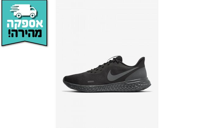 4 דיל לזמן מוגבל: נעלי ריצה והליכה לגבר נייקי NIKE דגם Revolution 5 בצבע שחור