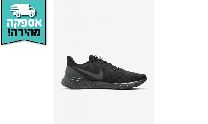 6 דיל לזמן מוגבל: נעלי ריצה והליכה לגבר נייקי NIKE דגם Revolution 5 בצבע שחור