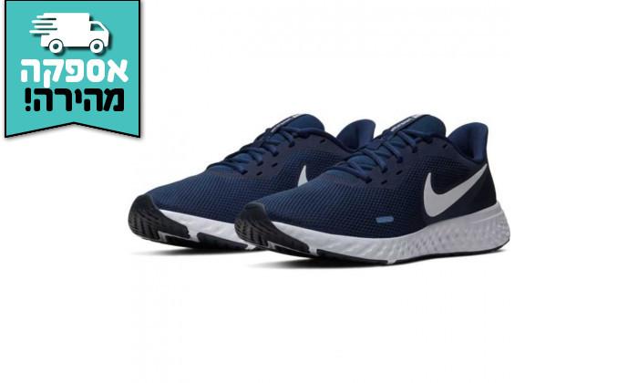 2 נעלי ריצה והליכה לגבר נייקי NIKE דגם Revolution 5 בצבע כחול