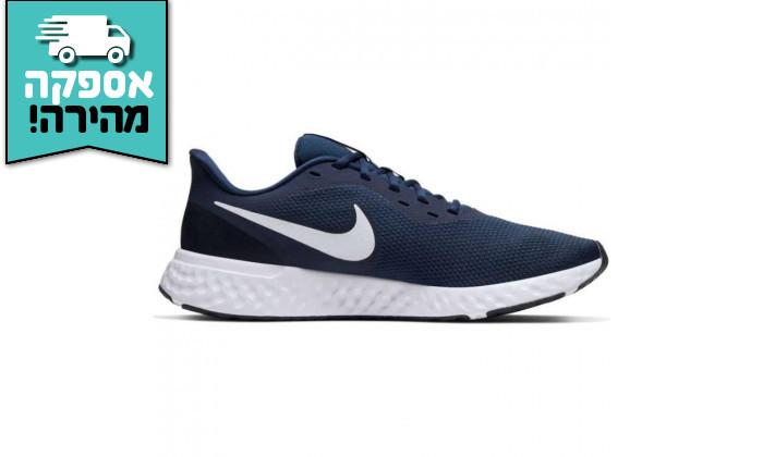 3 נעלי ריצה והליכה לגבר נייקי NIKE דגם Revolution 5 בצבע כחול