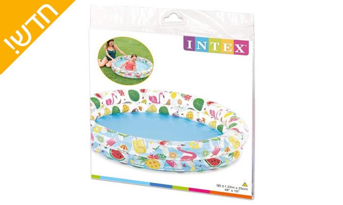 3 בריכה מתנפחת לילדים INTEX
