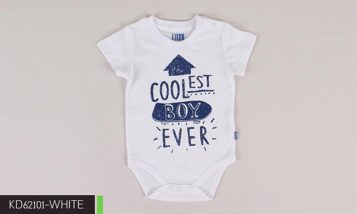 4 3/6 בגדי גוף לתינוקות 100% כותנה KEDS