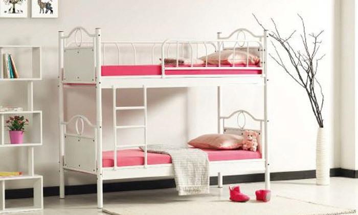 2 מיטת קומתיים ממתכתTwins Design דגם אריאל