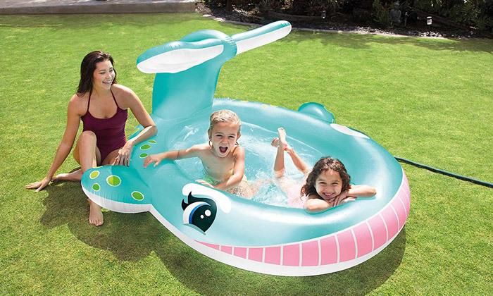 2 בריכת ילדים בצורת לוויתן INTEX