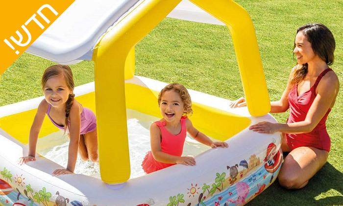 3 בריכת ילדים עם גגון INTEX