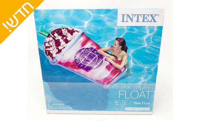 3 מזרן ים בצורת מילקשייק INTEX