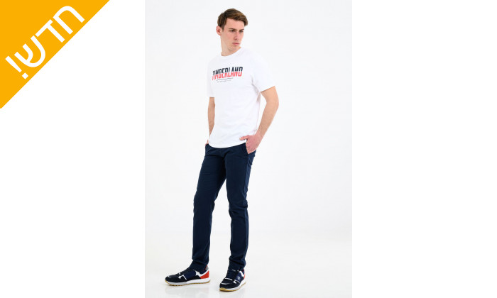 3 חולצת טי שירט 100% כותנה טימברלנד לגבריםTIMBERLAND