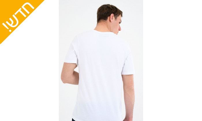 4 חולצת טי שירט 100% כותנה טימברלנד לגבריםTIMBERLAND