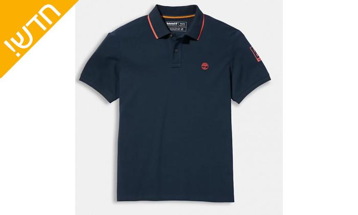 3 חולצת פולו כחולה לגברים 100% כותנה טימברלנד Timberland