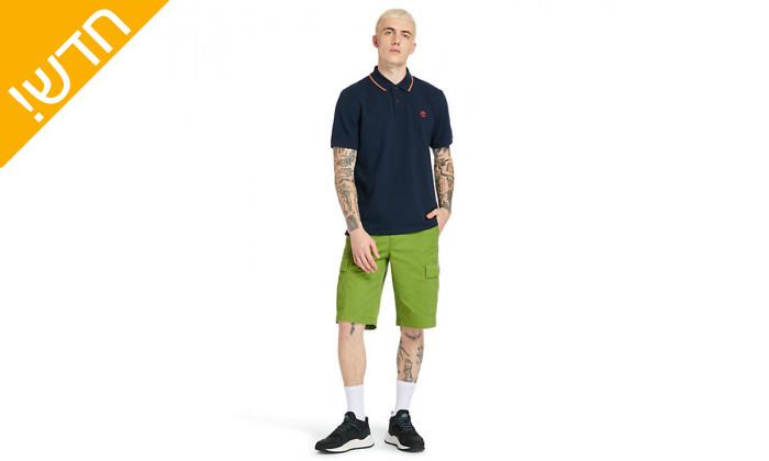 2 חולצת פולו כחולה לגברים 100% כותנה טימברלנד Timberland
